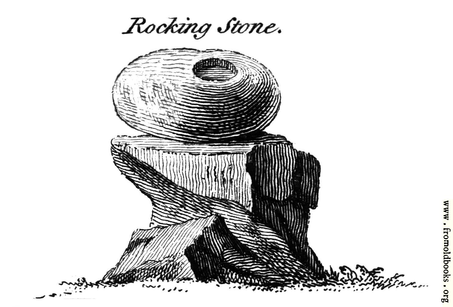 [Picture: Rocking Stone.  From the Druidical Antiquities Plate.]