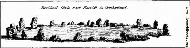 Druidical Circle near Keswick in cumberland.  From the Druidical Antiquities Plate.