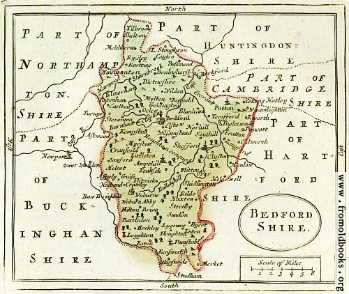 [Picture: The Map of Bedfordshire]