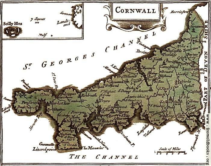[Picture: The map of Cornwall]