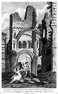 [Picture: Ruins of Lindisfarne Priory]
