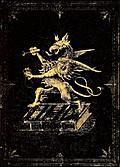 Victorian Retro-Goth Book Cover With Gryphon and Gold Border