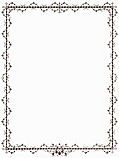 Outer Victorian Foliated Border in Brown