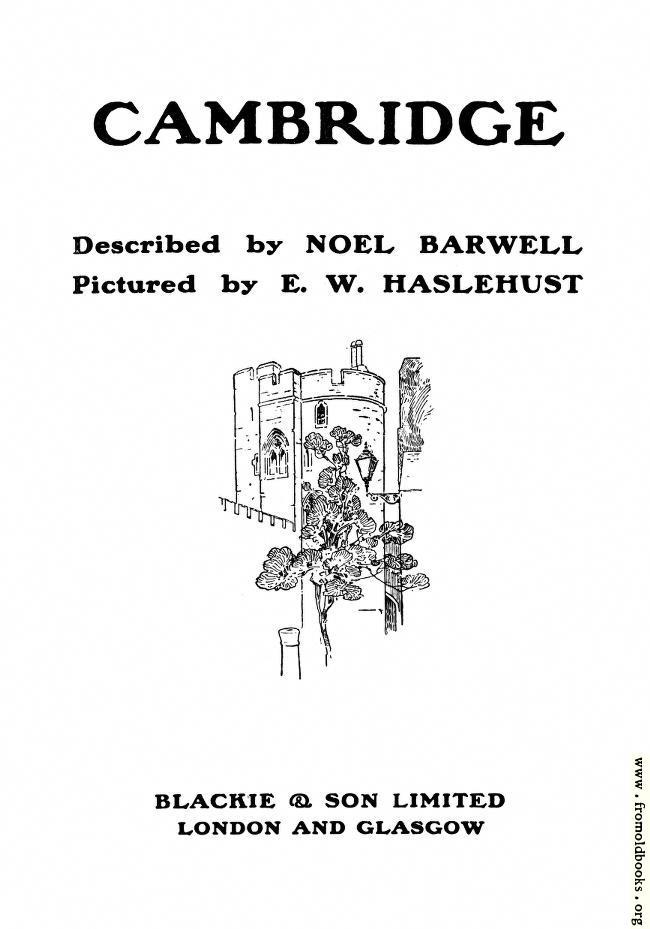 [Picture: Cambridge: Title Page]