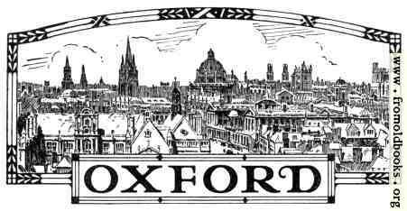 [Picture: The word Oxford, with a line illustration of the city]