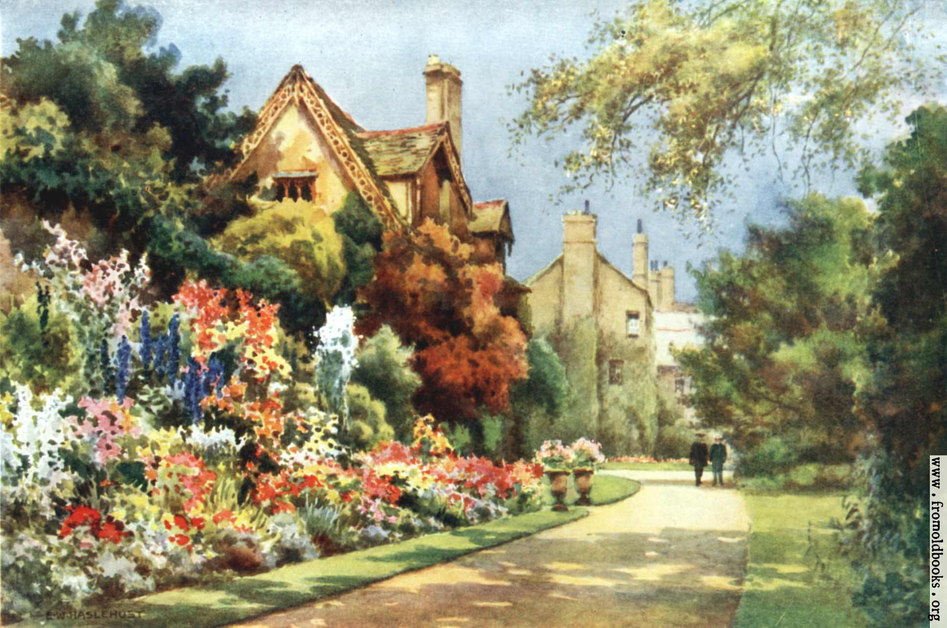 Oxford College Of Garden Design Painting The Cottages Worcester College  Gardens