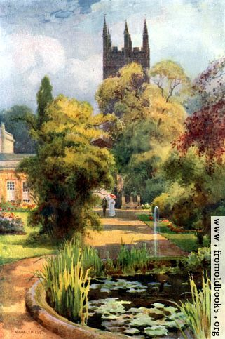 [Picture: Botanical Gardens and Magdalan College Tower, Oxford]