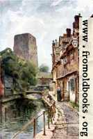 [picture: Fisher Row (narrow street by a canal) by the tower of Oxford Castle]