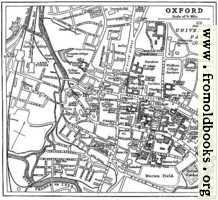 Plan of Oxford from circa 1900