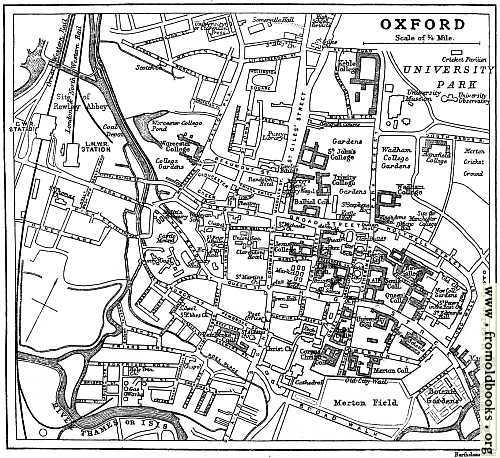 [Picture: Plan of Oxford from circa 1900]