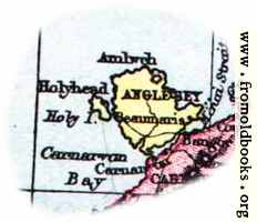 Overview map of Anglesey, Wales