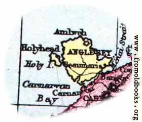 [Picture: Overview map of Anglesey, Wales]