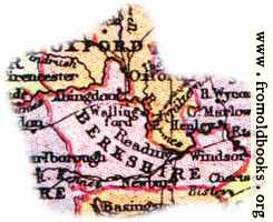 Overview map of Berkshire, England