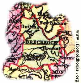 [Picture: Overview map of Brecknockshire, Wales]