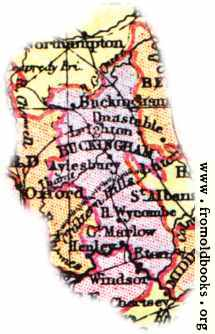 [Picture: Overview map of Buckinghamshire, England]