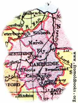 [Picture: Overview map of Cambridgeshire, England]
