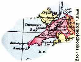 Overview map of Carnarvon, Wales