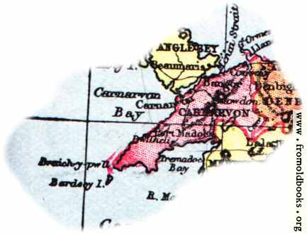[Picture: Overview map of Carnarvon, Wales]