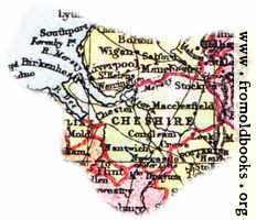 Overview map of Cheshire, England