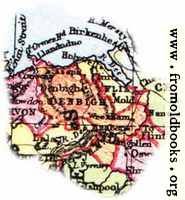 Overview map of Denbighshire, Wales
