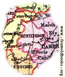 [Picture: Overview map of Huntingdonshire, England]