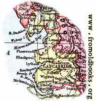 [Picture: Overview map of Lancashire, England]