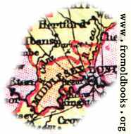 [Picture: Overview map of Middlesex, England]