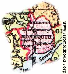 [Picture: Overview map of Monmouthshire, Wales]