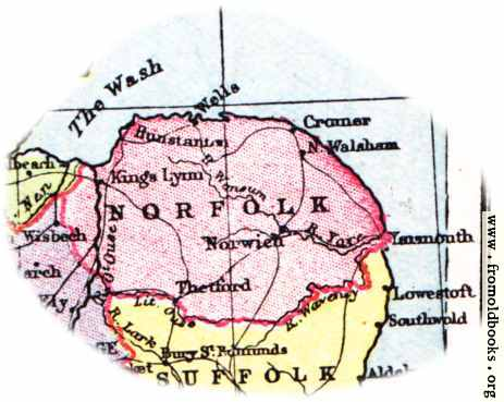 [Picture: Overview map of Norfolk, England]