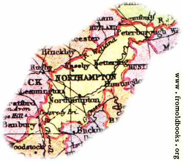 [Picture: Overview map of Northamptonshire, England]