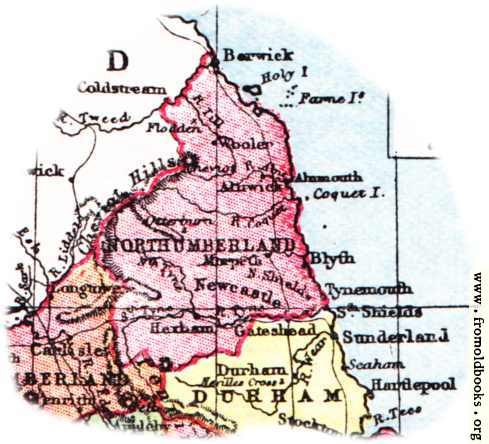 [Picture: Overview map of Northumberland, England]