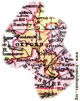 [Picture: Overview map of Oxfordshire, England]