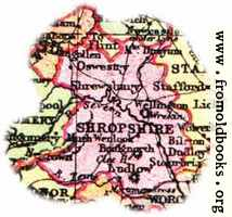 [Picture: Overview map of Shropshire, England]