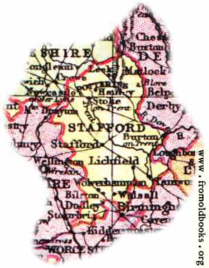 [Picture: Overview map of Staffordshire, England]