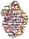 [Picture: Overview map of Warwickshire, England]