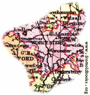 [Picture: Overview map of Worcestershire, England]