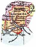 [picture: Overview map of Hampshire, England]