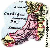 [picture: Overview map of Cardigan, Wales]