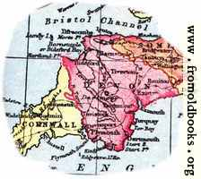 [picture: Overview map of Devon, England]
