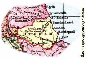 [picture: Overview map of Durham, England]