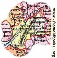 [picture: Overview map of Gloucestershire, England]