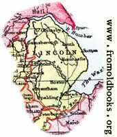 [picture: Overview map of Lincolnshire, England]