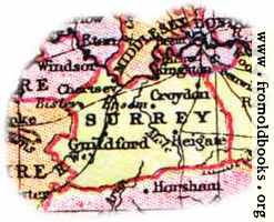 [picture: Overview map of Surrey, England]