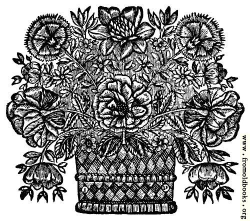 [Picture: Title Page Detail: Basket of Flowers]