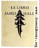 [picture: Bookplate of James Hall]