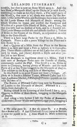 [Picture: Leland's Itinerary, Volume 1 Page 19]