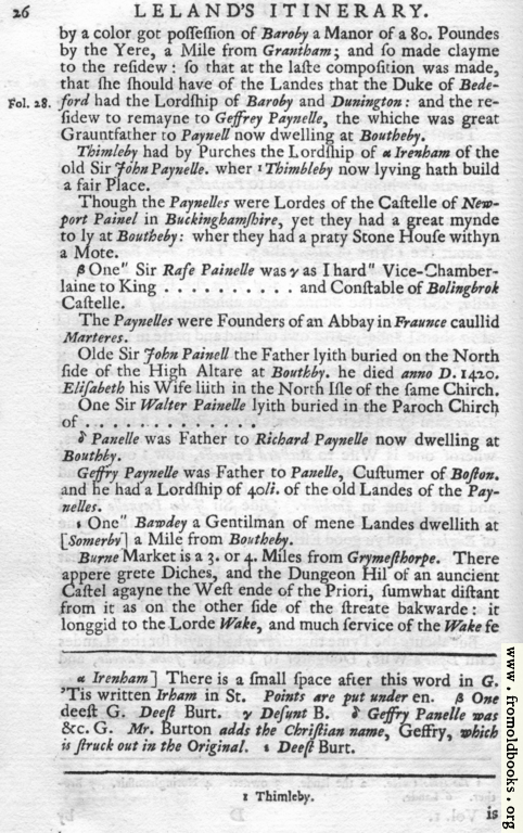 [Picture: Leland's Itinerary, Volume 1 Page 26]
