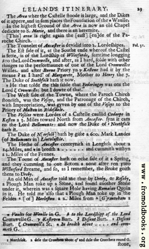 [Picture: Leland's Itinerary, Volume 1 Page 29]