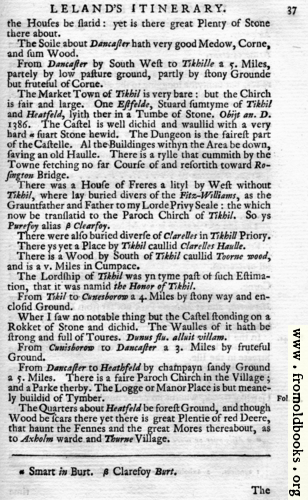 [Picture: Leland's Itinerary, Volume 1 Page 37]