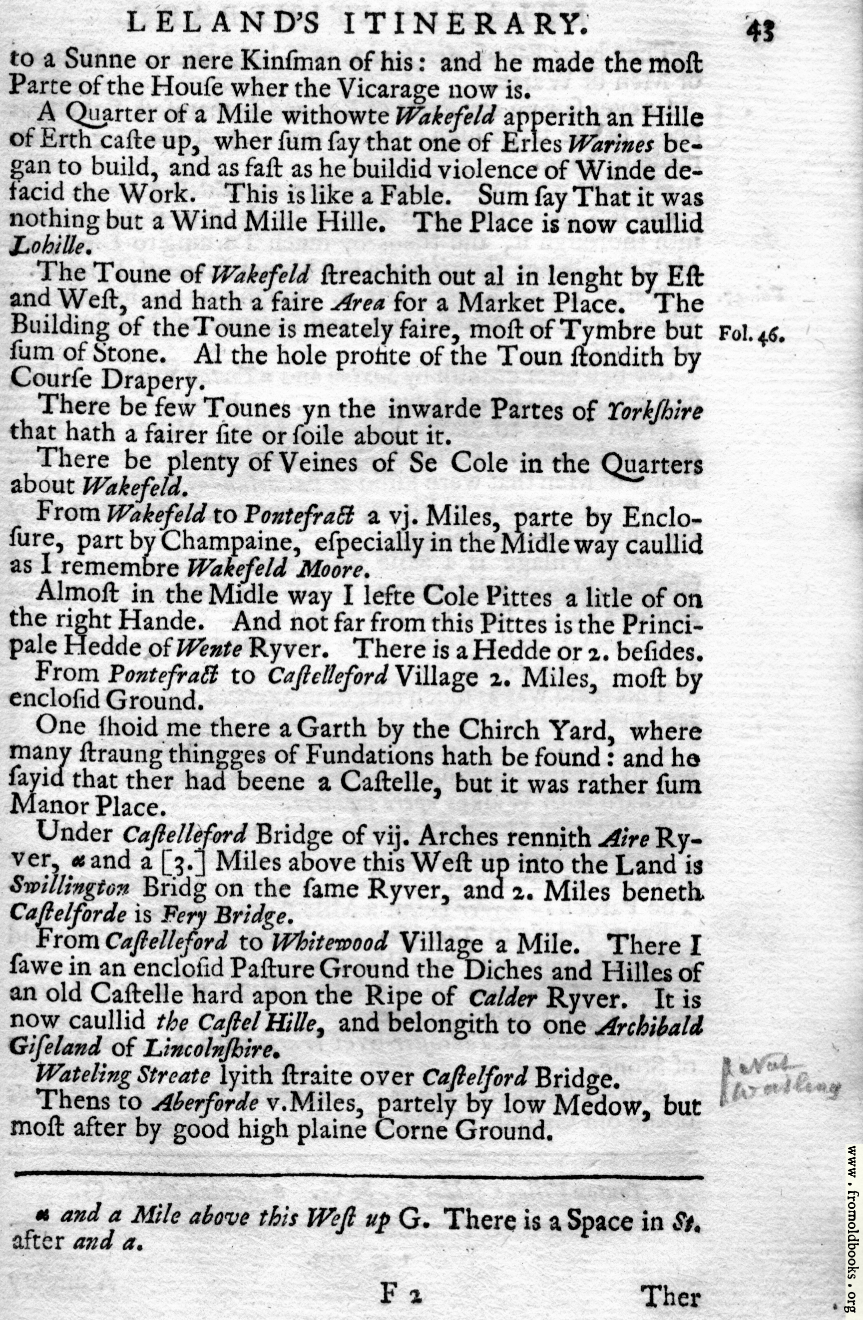 [Picture: Leland's Itinerary, Volume 1 Page 43]